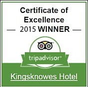 Kingsknowes Hotel Trip Advisor Certificate of Excellence Winner 2013