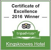 Kingsknowes Hotel Trip Advisor Certificate of Excellence Winner 2016